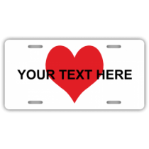 Heart With Custom Text License Plate