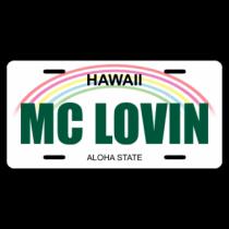 Mc Lovin License Plate