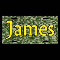 James Camo BG License Plate