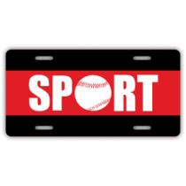 Sport Baseball License Plate