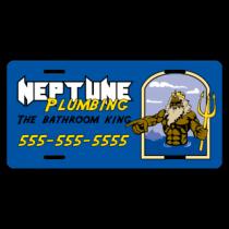 Plumbing Company License Plate