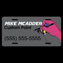 Custom Paint Company License Plate