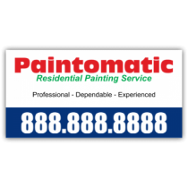 Paintomatic Painting Service Vinyl Banner