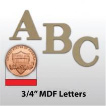 """3/4"""" Unfinished MDF Lettering"""