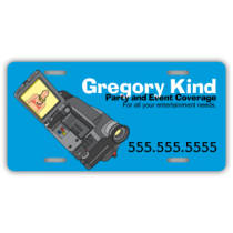 Party & Event Videographer License Plate