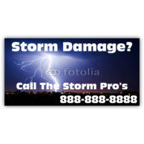 Storm Pro's Cleaning Services Vinyl Banner