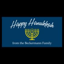 Happy Hanukkah Vinyl Banner