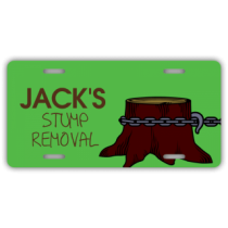 Stump Removal Service License Plate