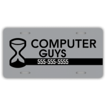 Computer Store License Plate