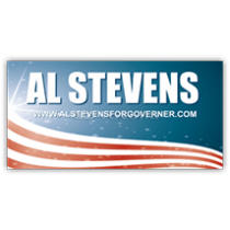 Al Stevens For Governor Sign - Magnetic Sign