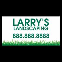 Larry's Landscaping Vinyl Banner