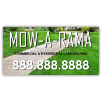 Mow A Rama Lawn Care Vinyl Banner
