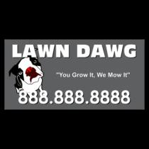 Lawn Dawg Lawn Care Vinyl Banner