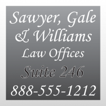 Law 293 Window Lettering