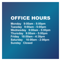 Business Hours Window Lettering 4