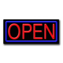 "OPEN Rectangle 13""H x 32""W Neon Sign"