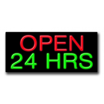"OPEN 24HRS. 13""H x 32""W Neon Sign"