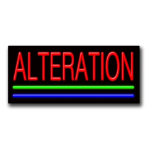 """ALTERATIONS 13""""H x 32""""W Neon Sign"""