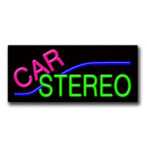 "CAR STEREO 13""H x 32""W Neon Sign"
