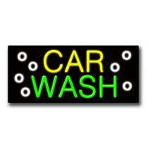 "CAR WASH 13""H x 32""W Neon Sign"