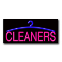 """CLEANERS 13""""H x 32""""W Neon Sign"""