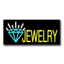 "JEWELRY 13""H x 32""W Neon Sign"