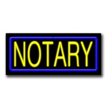 "NOTARY 13""H x 32""W Neon Sign"