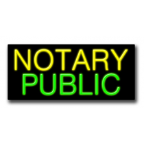 "NOTARY PUBLIC 13""H x 32""W Neon Sign"