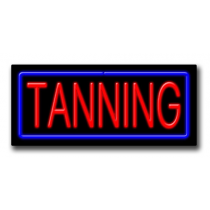 """TANNING 13""""H x 32""""W Neon Sign"""