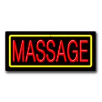 """MASSAGE 13""""H x 32""""W Neon Sign"""