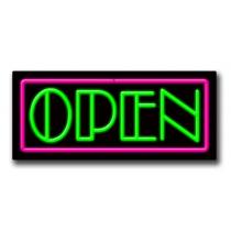 "OPEN 13""H x 32""W Neon Sign"
