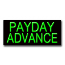 "PAYDAY ADVANCE 13""H x 32""W Neon Sign"