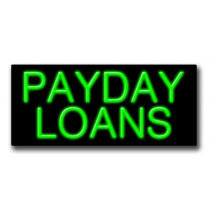 "PAYDAY LOANS 13""H x 32""W Neon Sign"