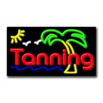 """TANNING 20""""H x 37""""W Neon Sign"""