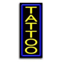 "TATTOO Vertical 13""W x 32""H Neon Sign"