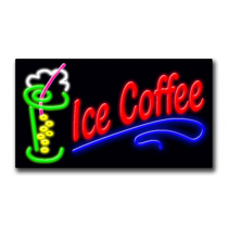 "ICE COFFEE 20""H x 37""W Neon Sign"