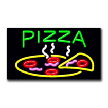 "PIZZA 20""H x 37""W Neon Sign"