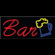 "BAR 13""H x 32""W Neon Sign"