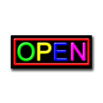 "OPEN Multicolor 13""H x 32""W Neon Sign"