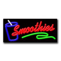 "SMOOTHIES 13""H x 32""W Neon Sign"