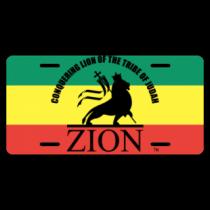 Zion License Plate