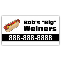 Bob's Weiners Magnetic Sign - Magnetic Sign