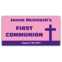 Jenna McIntosh's First Communion Vinyl Banner