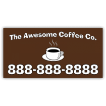 Awesome Coffee Co. Magnetic Sign - Magnetic Sign