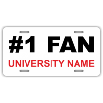 #1 Fan Custom License Plate