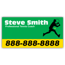 Tennis Coach Magnetic Sign - Magnetic Sign