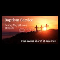 First Baptism Service Vinyl Banner