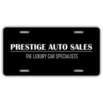 Prestige Auto Sales License Plate