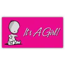 It's a Girl Magnetic Sign - Magnetic Sign