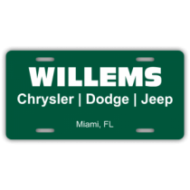 Willems Chrysler Dodge Jeep License Plate